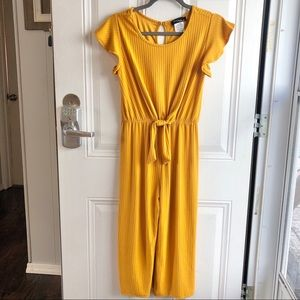 Love 2 be Loved mustard yellow girl's jumpsuit XL